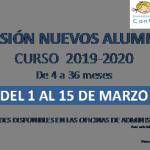 admision alumnos cantinela 19-20